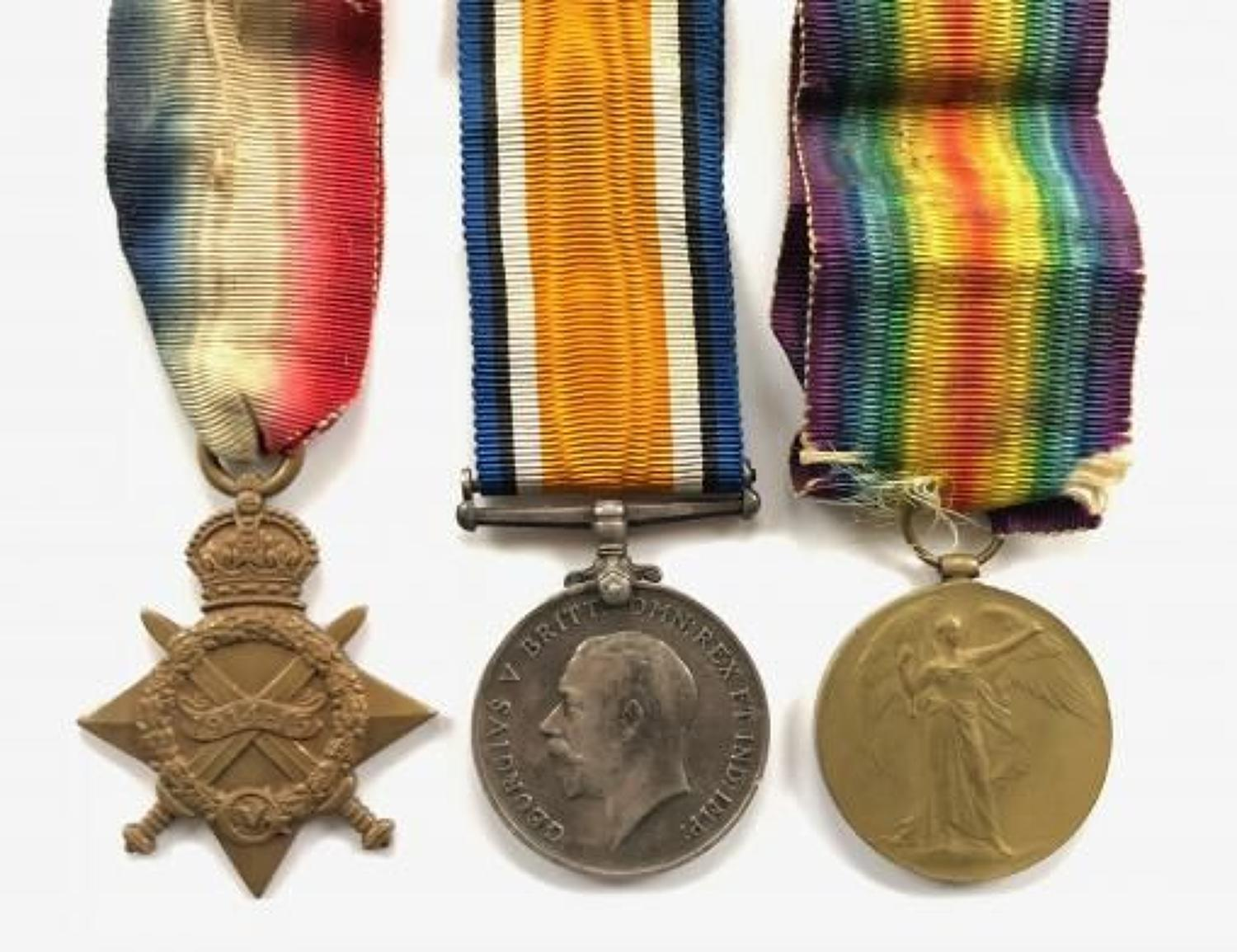 WW1 12th Lancers Group of Three Medals.
