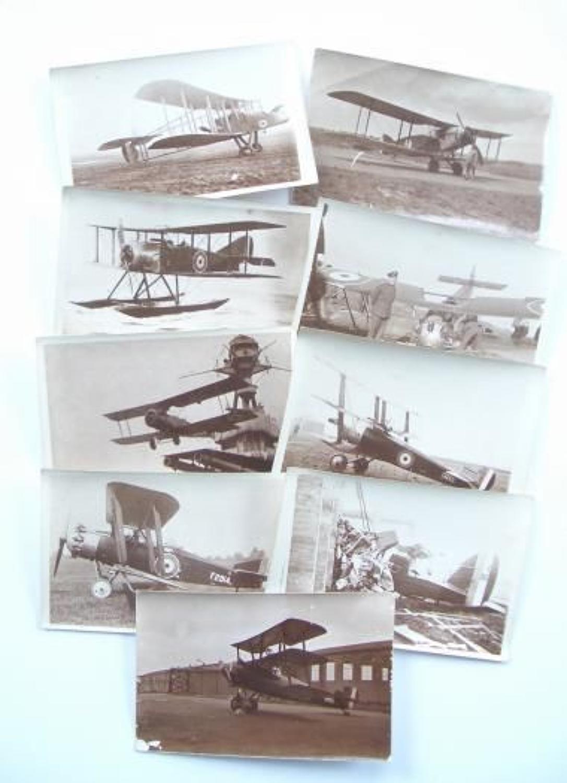 WW1 RFC / RAF Snap Shop Photographs.