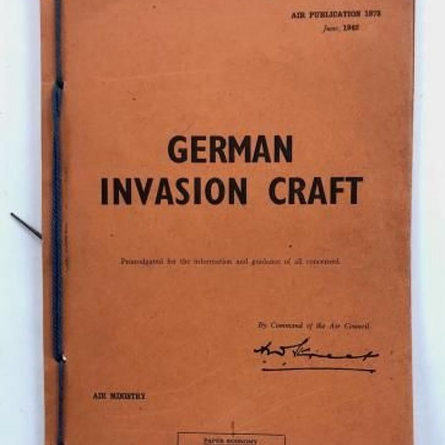 "WW2 RAF 1942 Air Publication 1942 ""German Invasion Craft"""