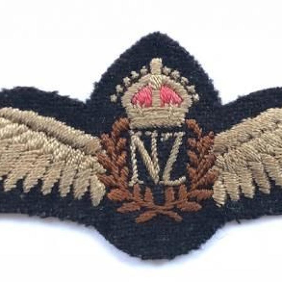 WW2 Royal New Zealand Air Force Pilots Wings.