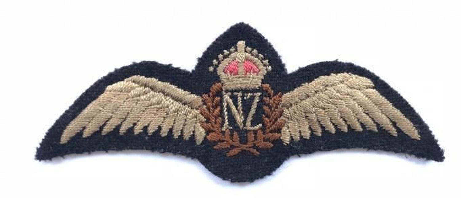 WW2 Royal New Zealand Air Force Pilots Wings.