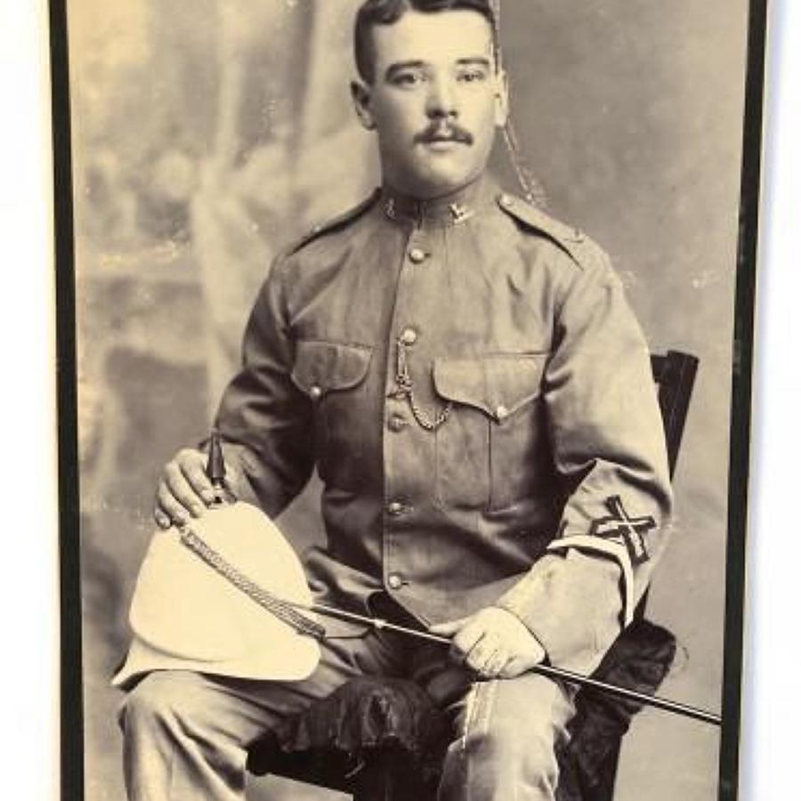 Victorian Hertfordshire Regiment Carte-de-Visite Photograph.