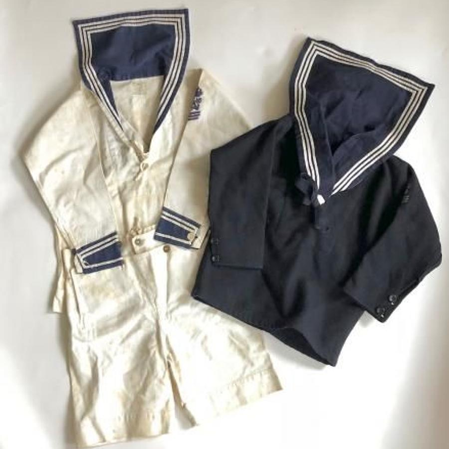 WW1 Period Young  Child's Royal Navy Ratings Two Tunics