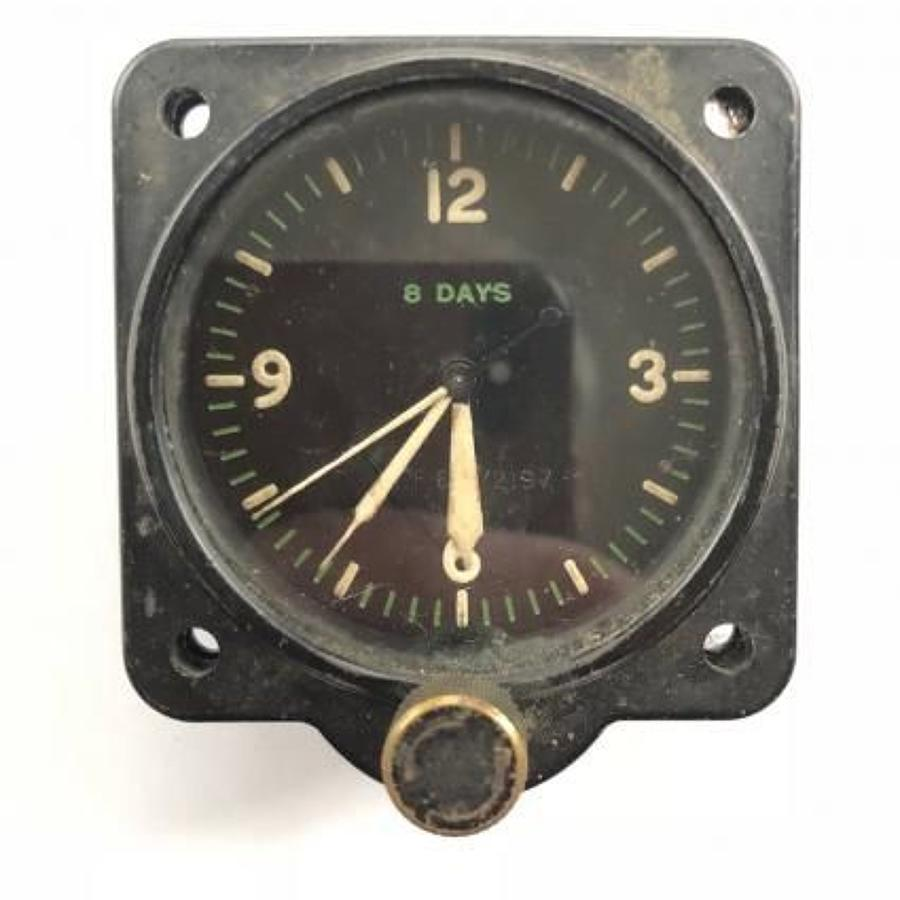 WW2 RAF 1942 Aircraft 8 Day Cockpit Clock.