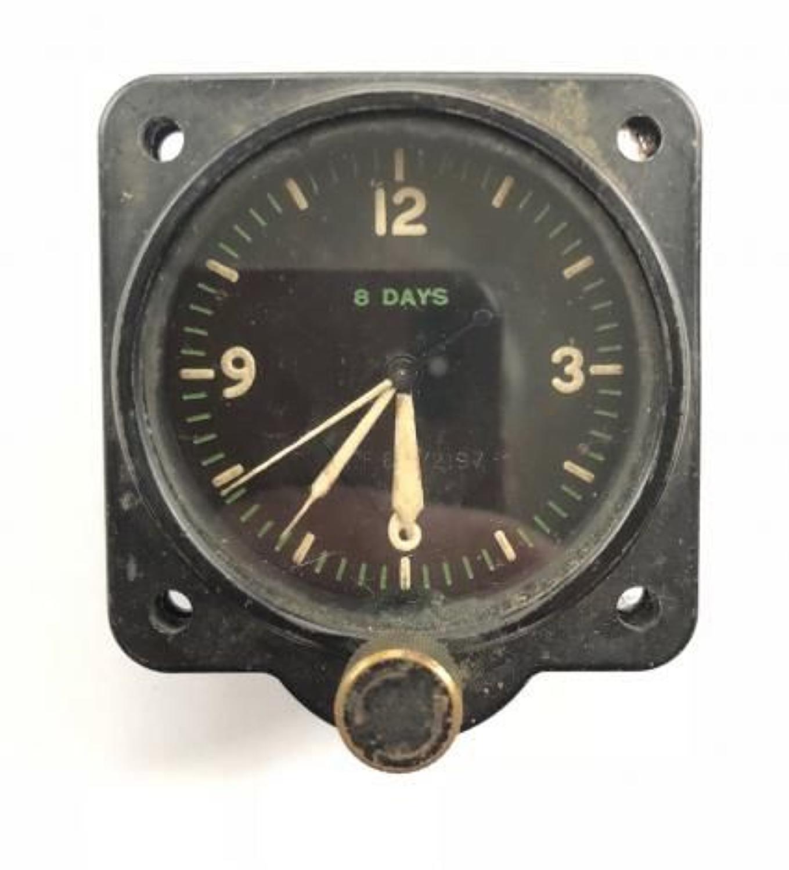 WW2 RAF 1942 Aircraft 8 Day Cockpit Clock.