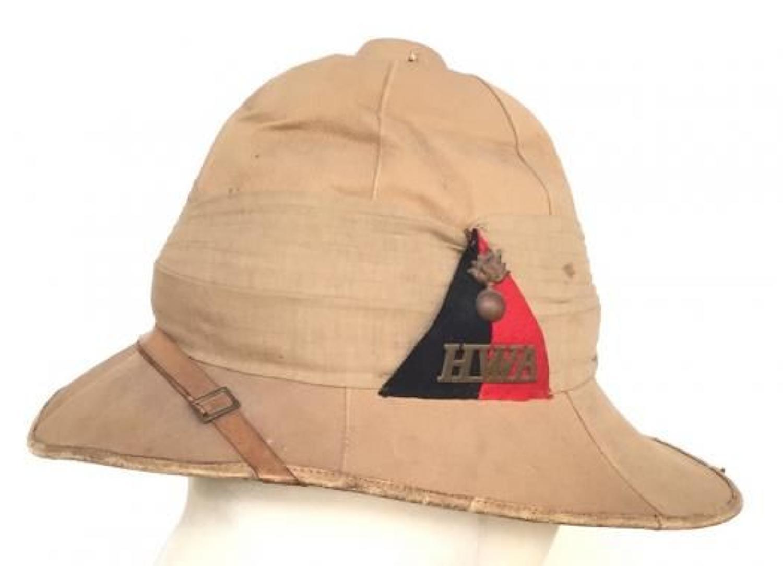 Boer War Hants Isle of Wight Artillery Commanding Officer's Helmet