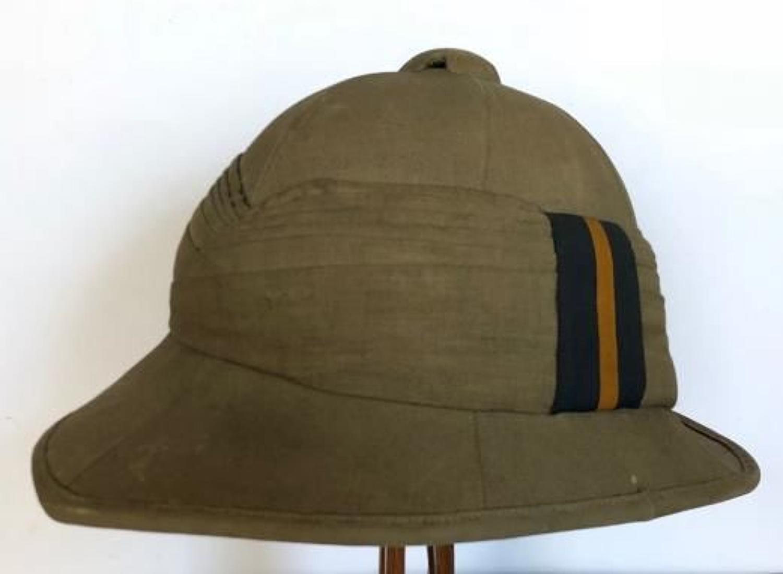 WW1 Early Interwar Period Other Rank's Wolseley Pattern Sun Helmet