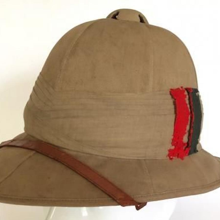 WW1 Interwar  Period Wolseley Pattern Sun Helmet Singapore