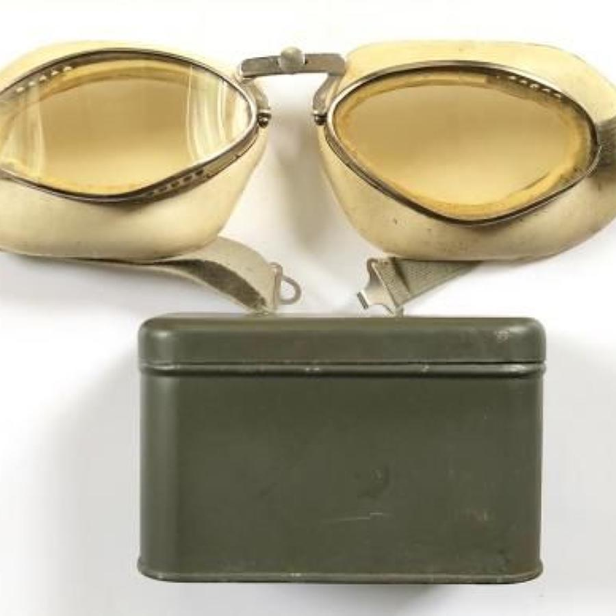 WW2 Period French / Luftwaffe Flying Goggles.