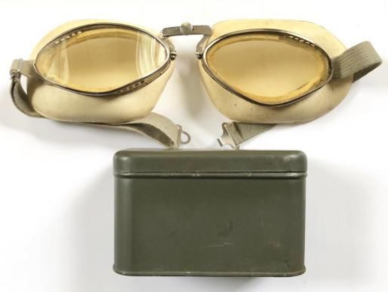 WW2 Period French / Luftwaffe Flying Goggles.