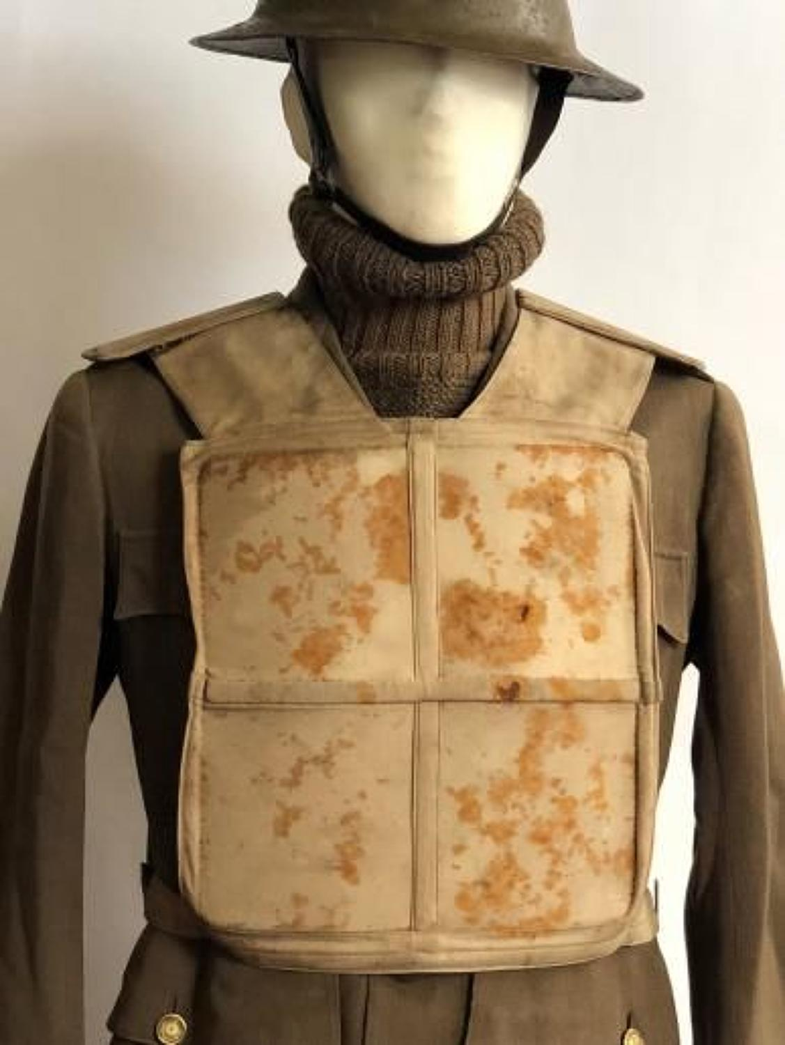 WW1 Attributed 4th Bn Welsh Regiment Officer's Dayfield Body Armour