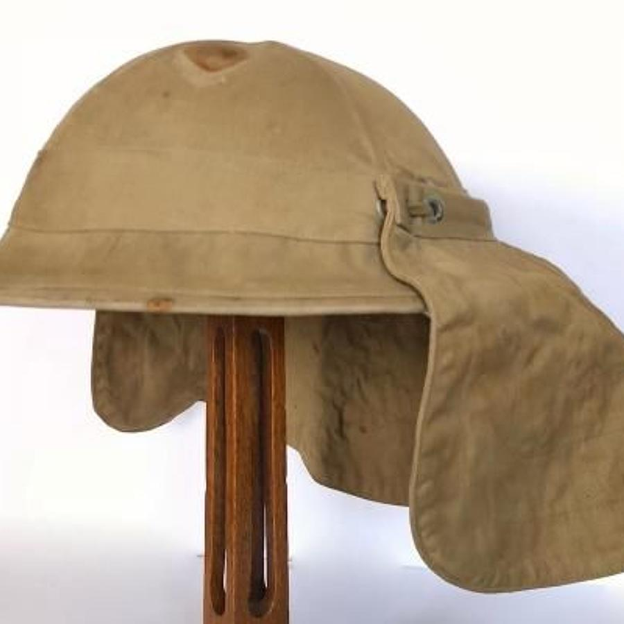 WW1 Attributed 9th Bn Worcestershire Regiment Brodie Helmet and Cover