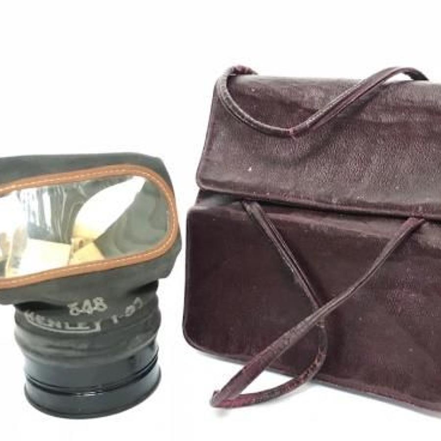 WW2 Home Front Ladies Gas Mask Handbag Case.