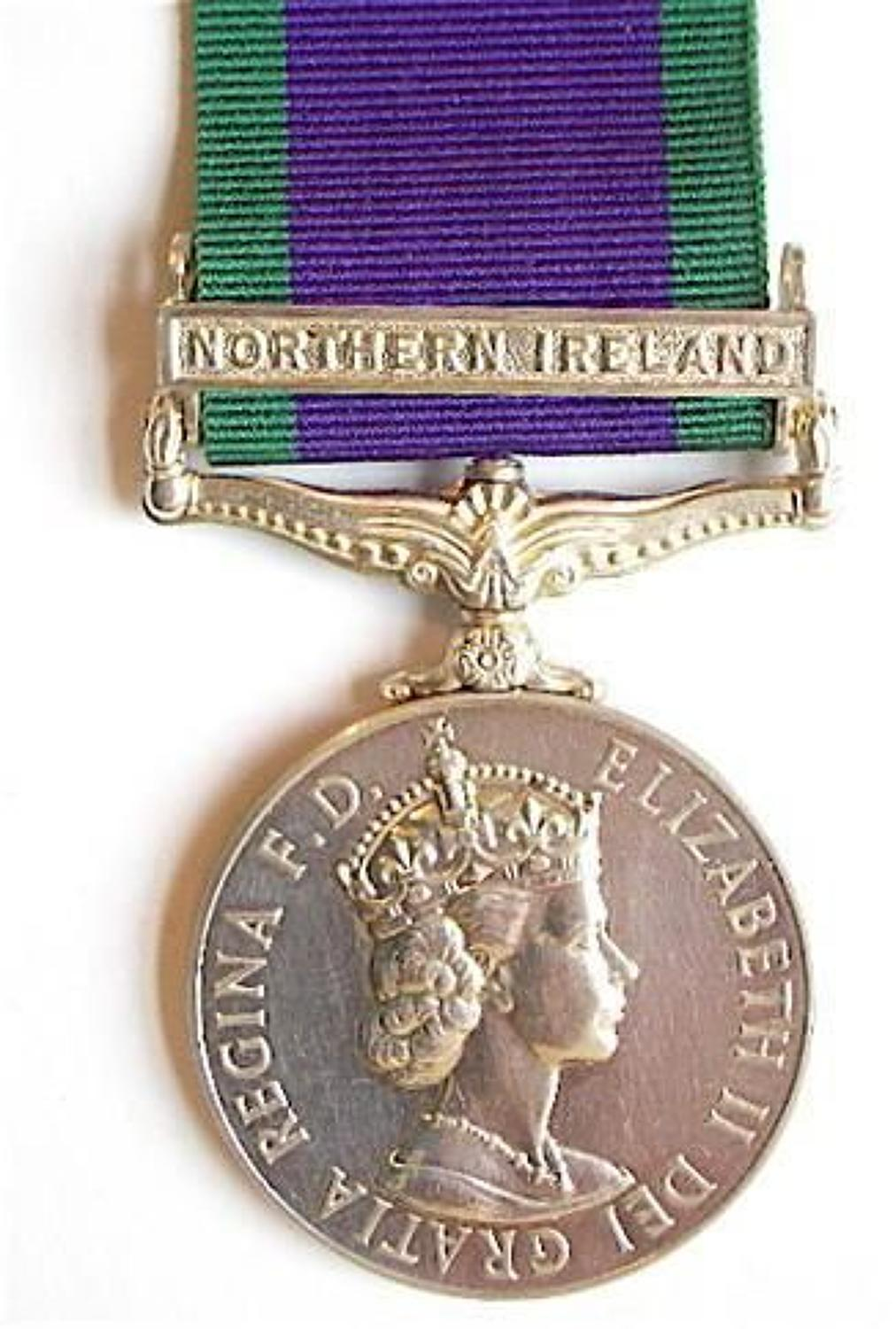 RAF Issue Campaign Service Medal Northern Ireland