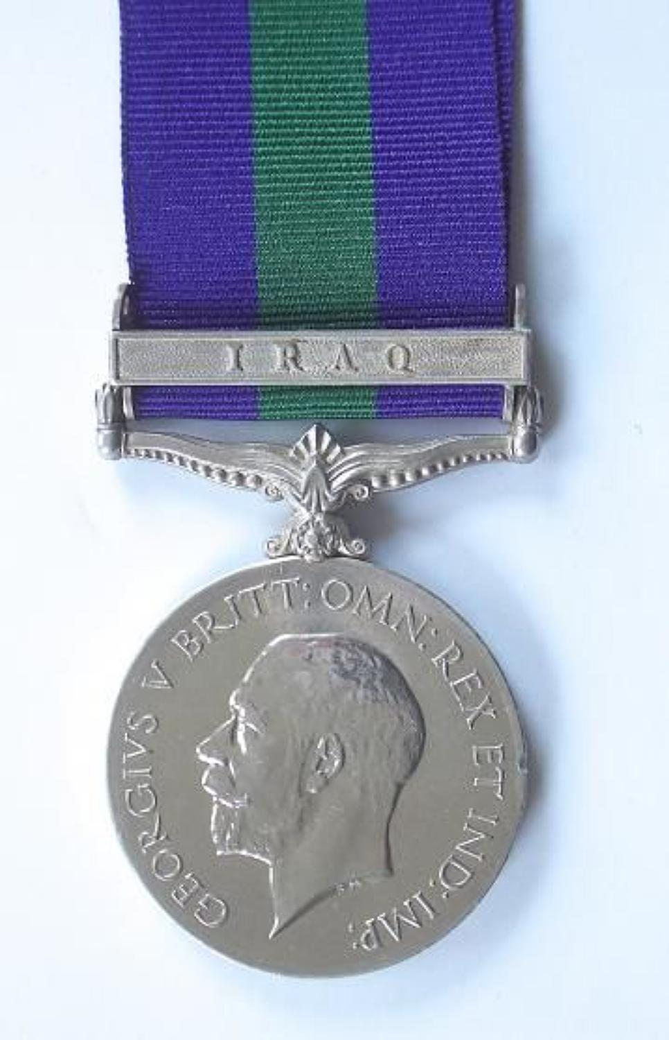 Indian Army 3rd Bn 23rd Infantry General Service Medal clasp Iraq.