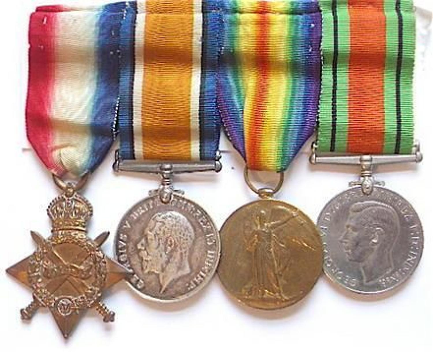 WW1 7th Dragoon Guard Group of Four Medals
