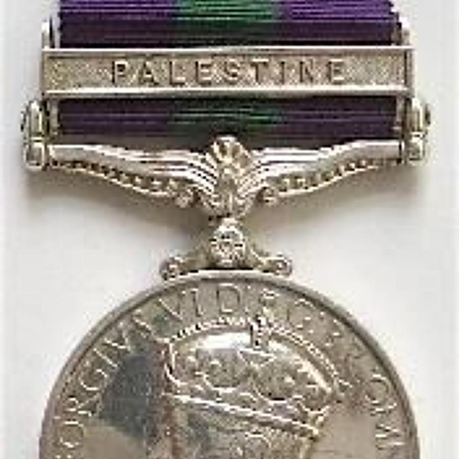 2nd Bn Highland Light Infantry General Service Medal, clasp Palestine.
