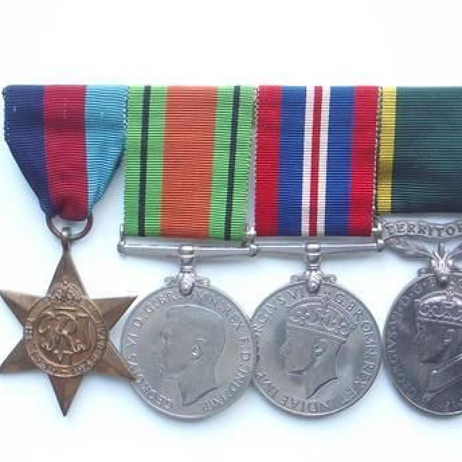 WW2 ATS Territorial Efficiency Medal Group.