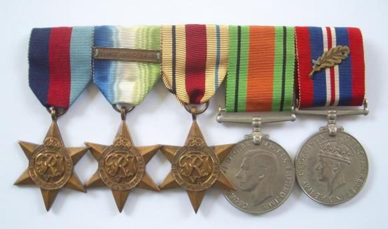 WW2 Mention In Dispatches Medal Group.