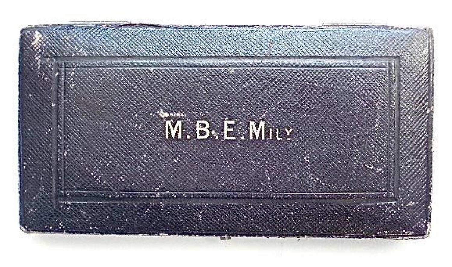 WW1 Period Case for a MBE (Military) Order.