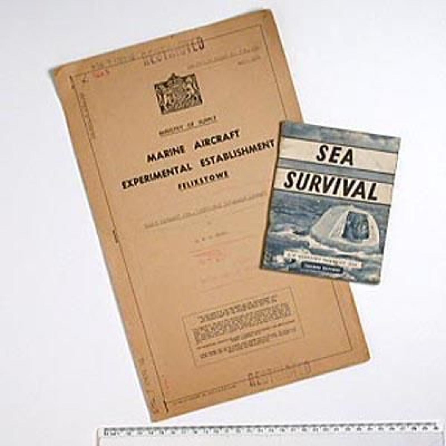 RAF Official aircrew Sea Survival Booklet and Restricted report on20 s