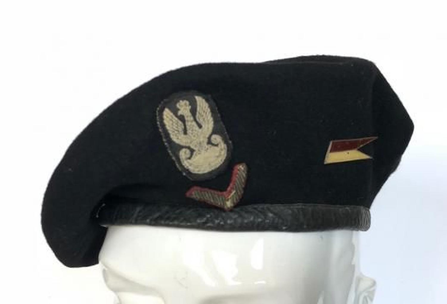 WW2 Period Polish Army Armoured Black Beret  in All Items