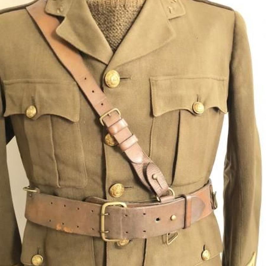 WW1 1915 British Officer's Sam Brown Belt.