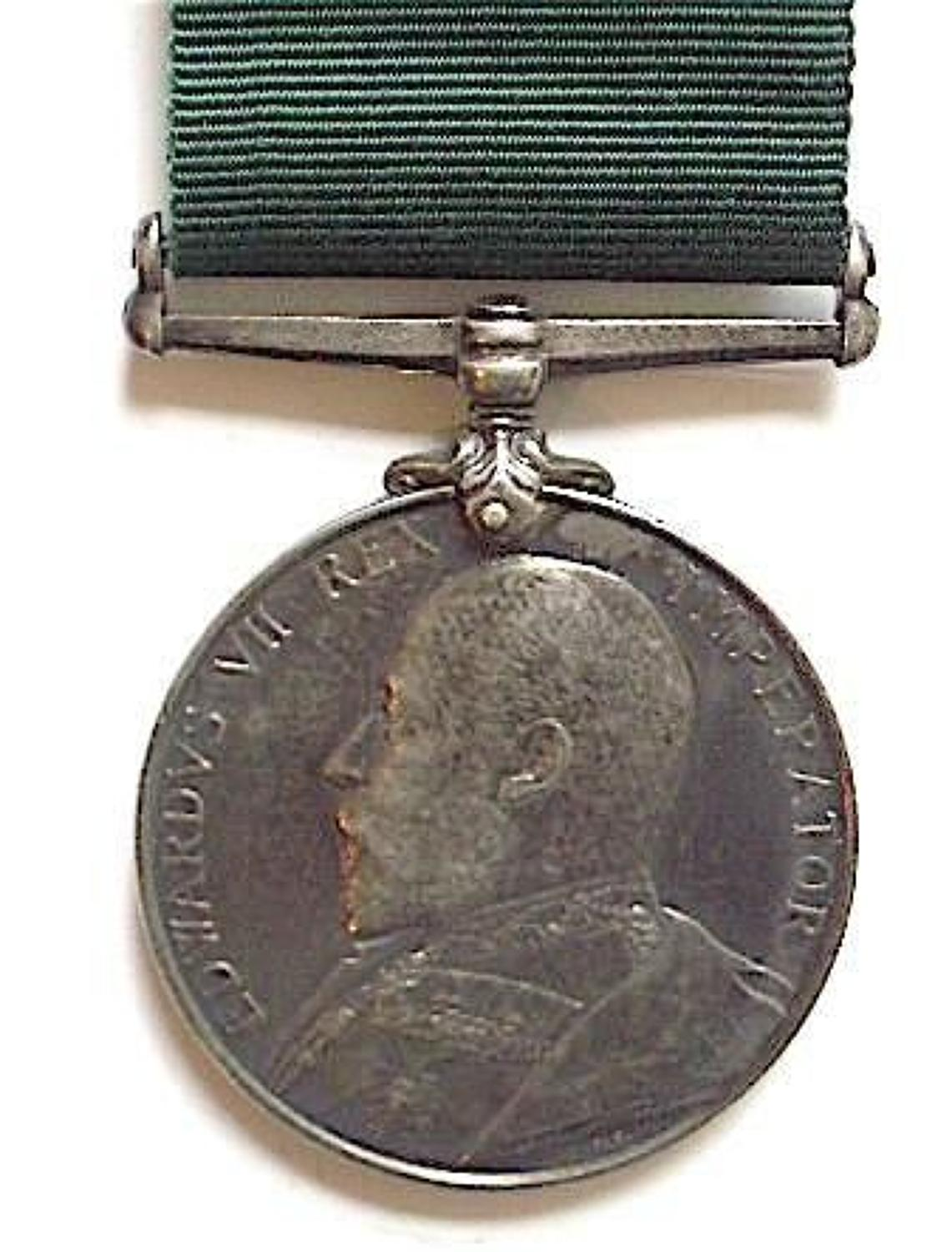 Edwardian 5th VB Highland Light Infantry Volunteer Long Service Medal.