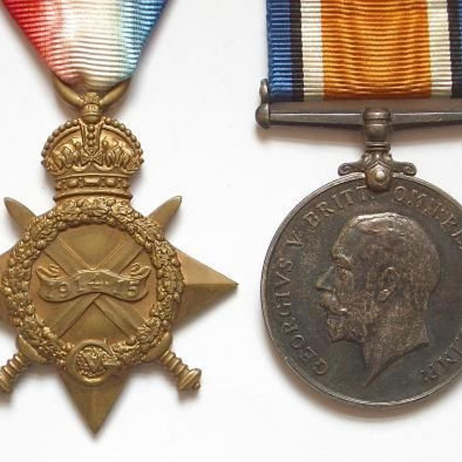 WW1 Royal Scots Fusiliers Medals.