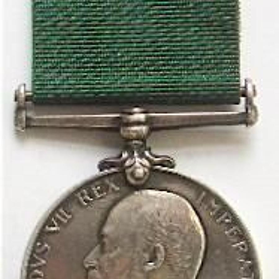 Edwardian 2nd Lancashire RGA Volunteer Long Service Good Conduct Medal
