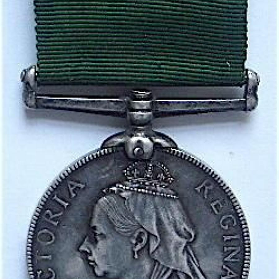 Victorian 4th VB Scottish Rifles Long Service Medal.