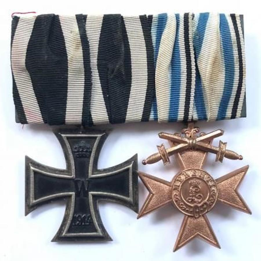 WW1 Bavarian Gallantry Group of Two Medals.