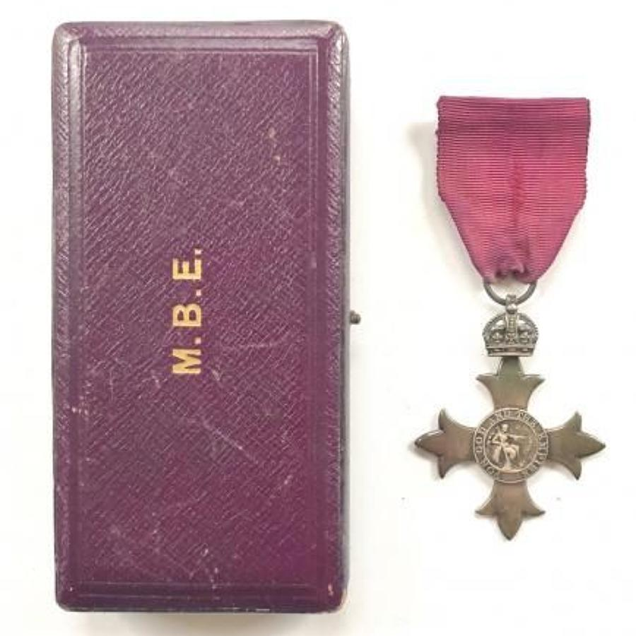 WW1 1919 Member of the British Empire (MBE) Breast Badge Medal.