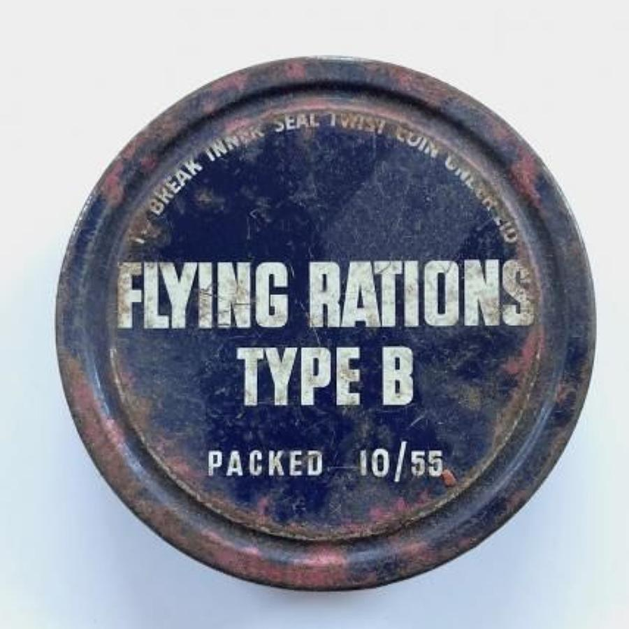 RAF Cold War Period 1955 Flying Ration Type B. Tin