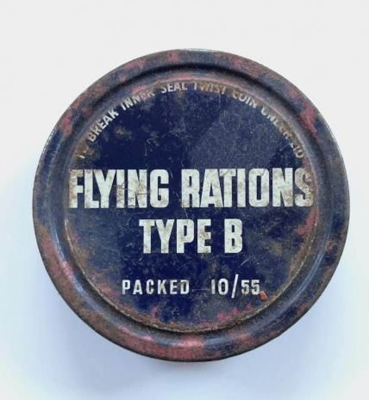 RAF Cold War Period 1955 Flying Ration Type B. Tin