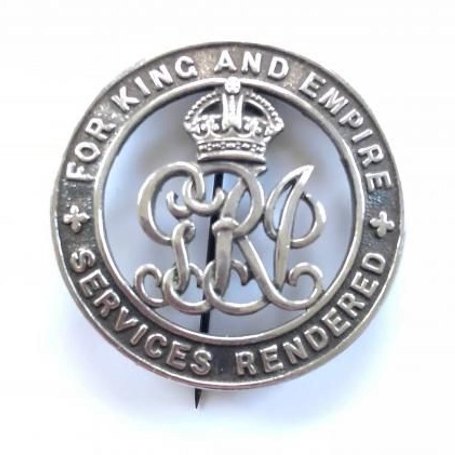 WW1 Rifle Brigade Silver War Badge.