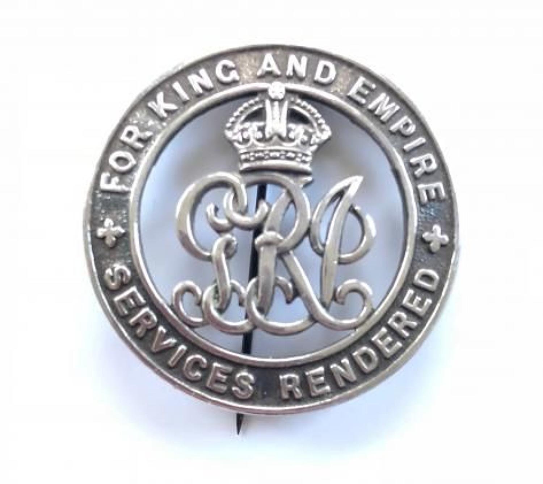 WW1 Rifle Brigade Silver War Badge.