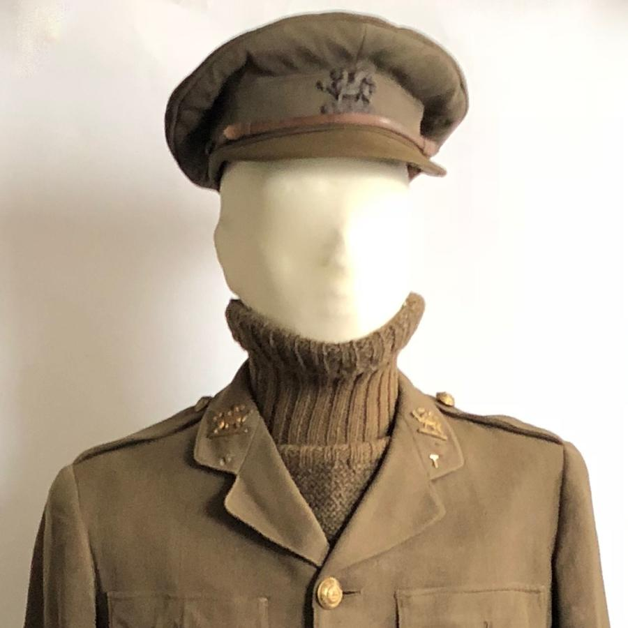 WW1 The Buffs (East Kent) Regiment Officer's Cuff Rank Tunic & Cap.