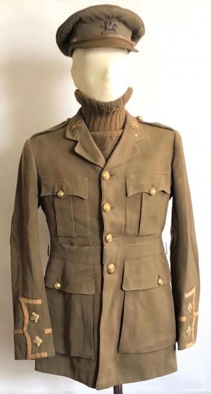 WW1 The Buffs (East Kent) Regiment Officer's Cuff Rank Tunic & Cap.