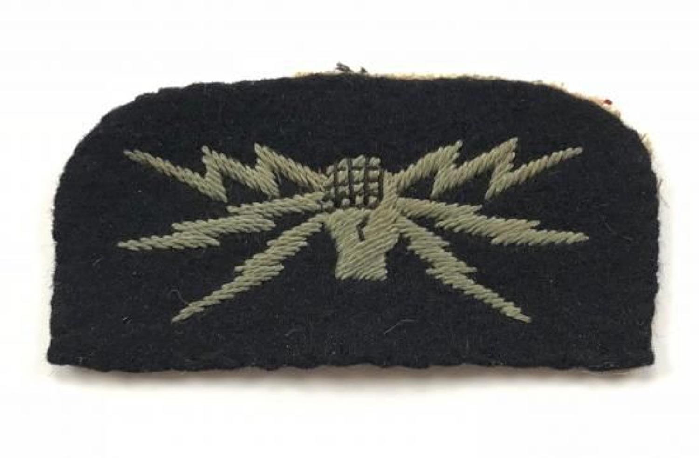 WW2 Period RAF Wireless Operator Ground Cloth Badge.