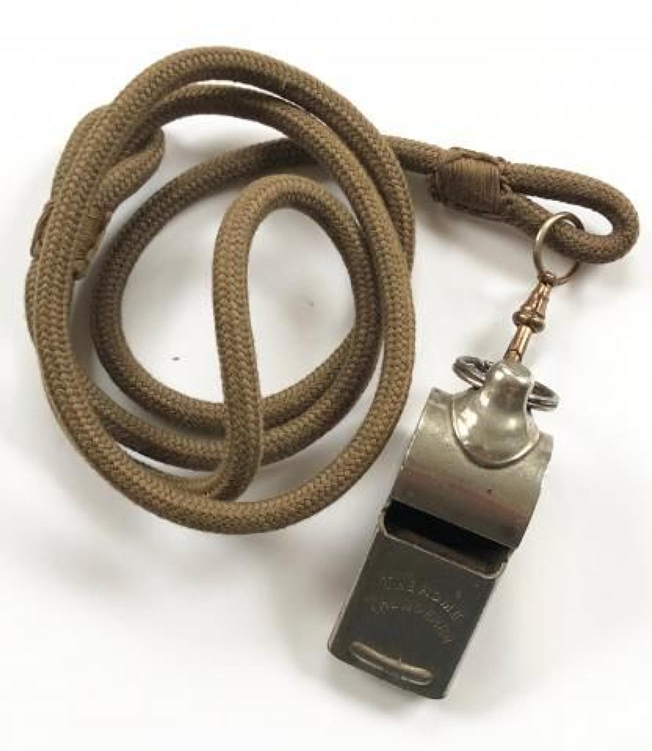 WW1 / WW2 British Army Officer's Whistle Lanyard.