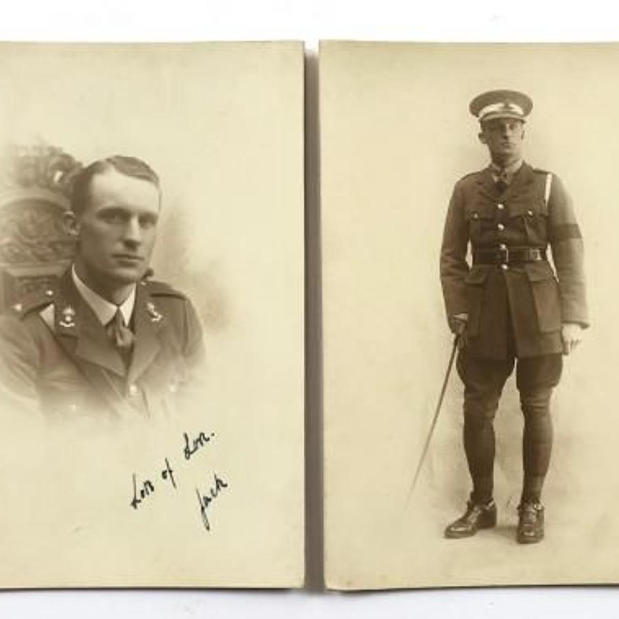 WW1 Photographs of a Royal Artillery Officer.