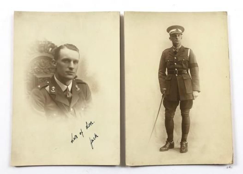 WW1 Photographs of a Royal Artillery Officer.