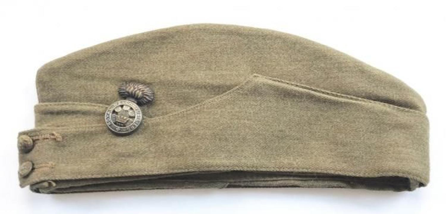 WW2 Period Royal Welch Fusiliers Other Rank's Side Cap.