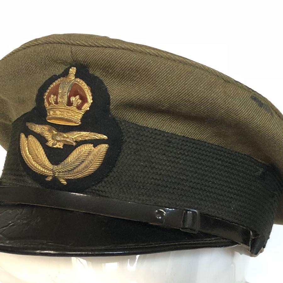 WW1 RAF Officer's 1918 1st Pattern Khaki Cap.