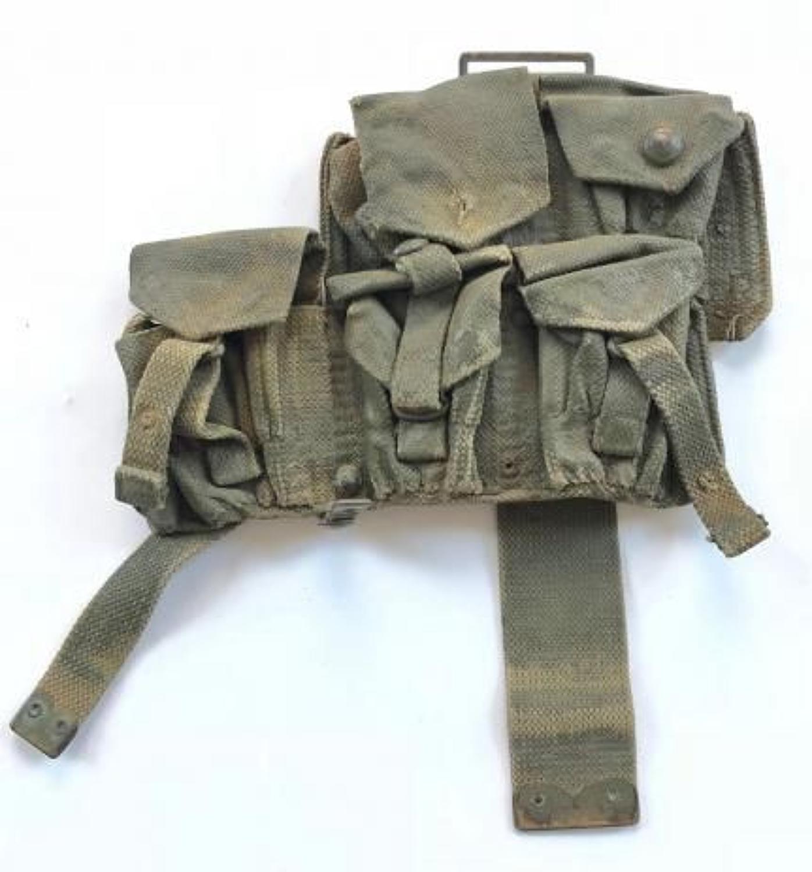WW1 Pattern 1908 Ammunition Pouch. Left Side.
