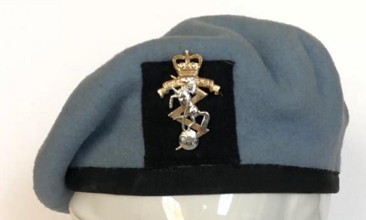 Army Air Corps, REME Other Rank's Light Blue Beret.