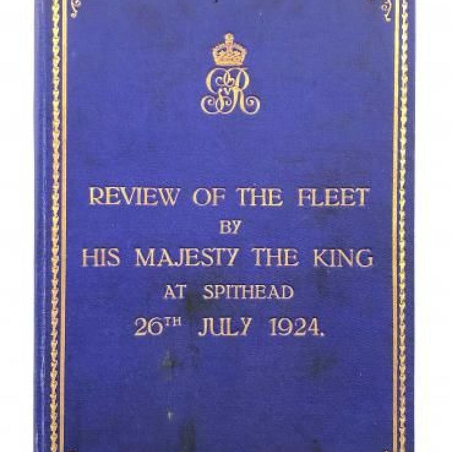 Royal Navy 1924 Review of the Fleet by King George V Official Booklet.