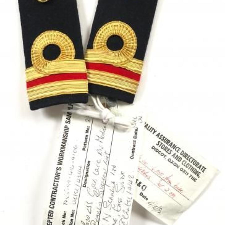Royal Navy Surgeon Lieutenant Sealed Pattern Shoulder Board Rank.