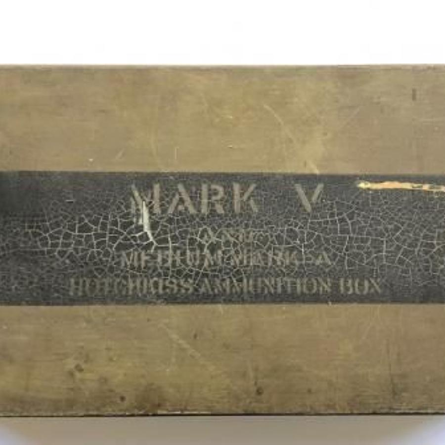 WW1 Tank Corps Hotchkiss Ammunition Box.
